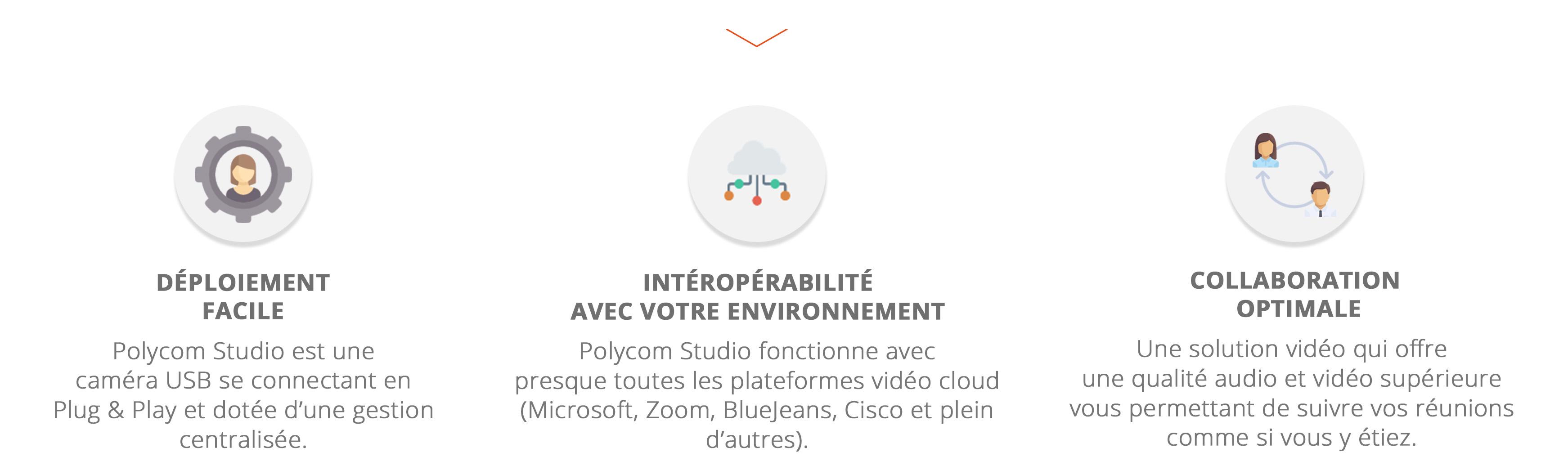 Polycom Studio fonctionnalités